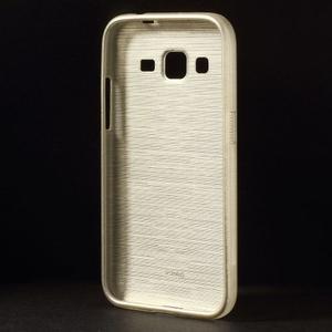 Broušený gelový kryt na Samsung Galaxy Core Prime - zlatý - 2