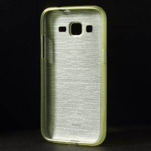 Broušený gelový kryt na Samsung Galaxy Core Prime - zelený - 2
