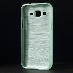Broušený gelový kryt na Samsung Galaxy Core Prime - cyan - 2