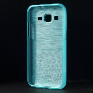 Broušený gelový kryt na Samsung Galaxy Core Prime - tyrkysový - 2