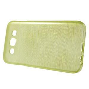 Broušené gelový kryt na Samsung Galaxy E5 - okrový - 2