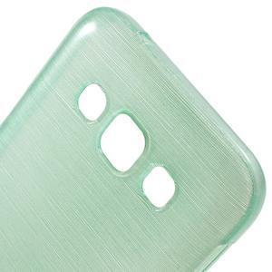Broušené gelový kryt na Samsung Galaxy E5 - cyan - 2