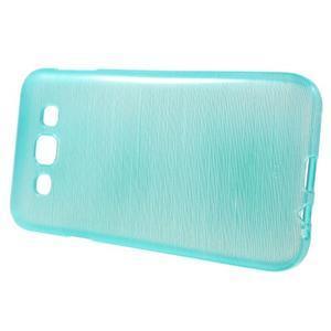 Broušené gelový kryt na Samsung Galaxy E5 - tyrkysový - 2