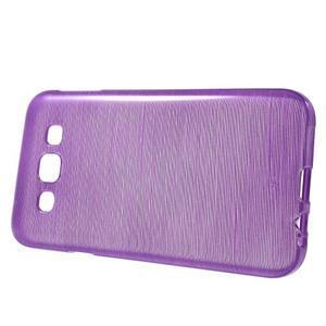 Broušené gelový kryt na Samsung Galaxy E5 - fialový - 2