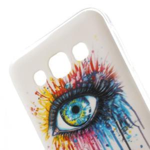 Gelový obal na mobil Samsung Galaxy E5 - barevné oko - 2