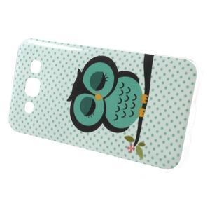Gelový obal na mobil Samsung Galaxy E5 - sova - 2