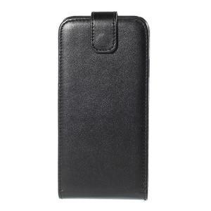 PU kožené flipové pouzdro Samsung Galaxy E5 - černé - 2