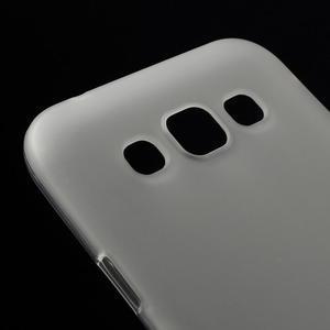Matný gelový obal na Samsung Galaxy E5 - bílý - 2