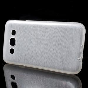 Broušené gelový kryt na Samsung Galaxy E5 - bílý - 2