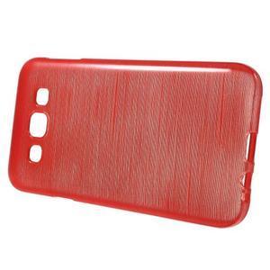Broušené gelový kryt na Samsung Galaxy E5 - červený - 2