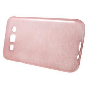 Broušené gelový kryt na Samsung Galaxy E5 - růžový - 2