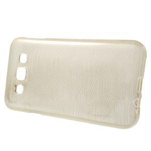 Broušené gelový kryt na Samsung Galaxy E5 - champagne - 2