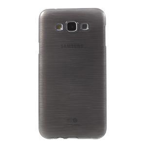 Broušený gelový obal pro Samsung Galaxy E7 - šedý - 2