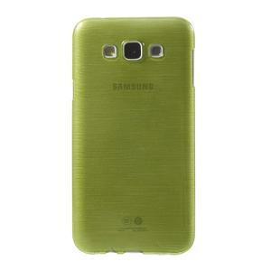 Broušený gelový obal pro Samsung Galaxy E7 - zelený - 2