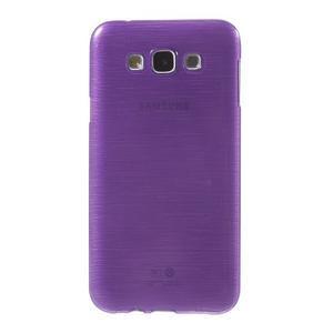 Broušený gelový obal pro Samsung Galaxy E7 - fialový - 2