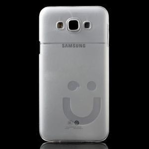 Plastový kryt na mobil Samsung Galaxy E7 - transparentní - 2