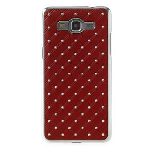 Červený drahokamový kryt na Samsung Grand Prime - 2