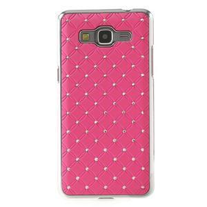 Růžový drahokamový kryt na Samsung Grand Prime - 2
