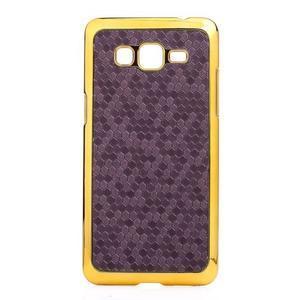 Luxusní kryt se zlatým lemem na Samsung Grand Prime - fialový - 2