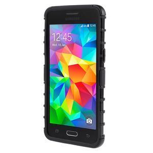 Vysoce odolný kryt se stojánkem na Samsung Galaxy Grand Prime - černý - 2
