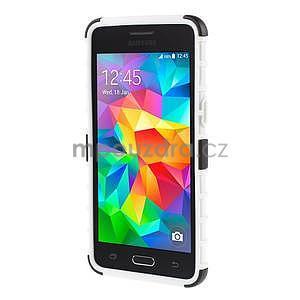 Vysoce odolný kryt se stojánkem na Samsung Galaxy Grand Prime - bílý - 2