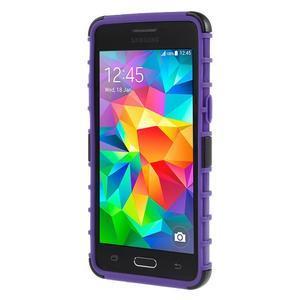 Vysoce odolný kryt se stojánkem na Samsung Galaxy Grand Prime - fialový - 2
