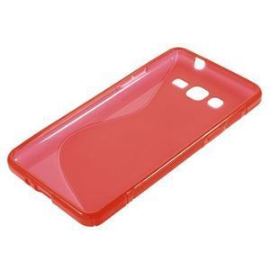 S-line gelový obal na Samsung Galaxy Grand Prime - červený - 2