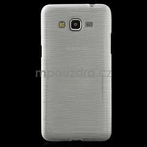 Broušený gelový obal pro Samsung Galaxy Grand Prime -  bílý - 2