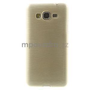 Broušený gelový obal pro Samsung Galaxy Grand Prime - zlatý - 2