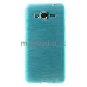 Broušený gelový obal pro Samsung Galaxy Grand Prime - tyrkysový - 2