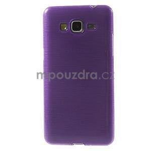 Broušený gelový obal pro Samsung Galaxy Grand Prime - fialový - 2