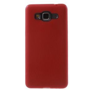 Tenký pogumovaný obal na Samsung Galaxy Grand Prime - červený - 2