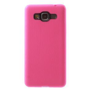 Tenký pogumovaný obal na Samsung Galaxy Grand Prime - rose - 2