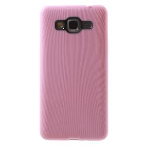 Tenký pogumovaný obal na Samsung Galaxy Grand Prime - růžový - 2