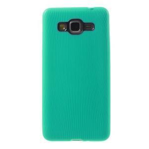 Tenký pogumovaný obal na Samsung Galaxy Grand Prime - cyan - 2