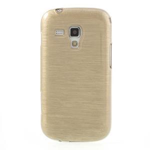 Broušený gelový kryt na Samsung Galaxy S Duos - zlatý - 2