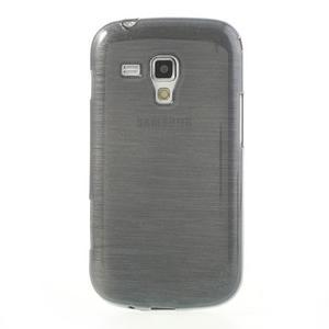 Broušený gelový kryt na Samsung Galaxy S Duos - šedý - 2