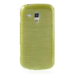 Broušený gelový kryt na Samsung Galaxy S Duos - zeleno žlutý - 2