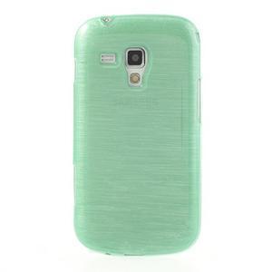 Broušený gelový kryt na Samsung Galaxy S Duos - zelený - 2