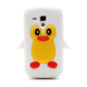 Silikonový obal tučňák na Samsung Galaxy S Duos - bílý - 2