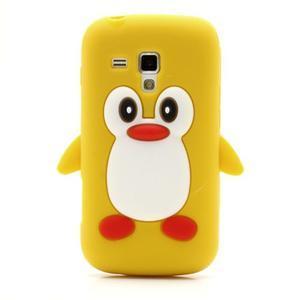 Silikonový obal tučňák na Samsung Galaxy S Duos - žlutý - 2