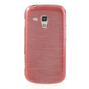 Broušený gelový kryt na Samsung Galaxy S Duos - růžový - 2