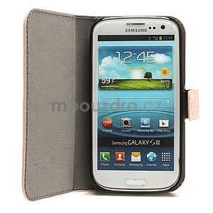 Peněženkové pouzdro na Samsung Galaxy S3 - růžové - 2