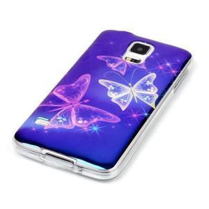 Blu-ray gelový obal s odlesky na Samsung Galaxy S5 - kouzelní motýlci - 2