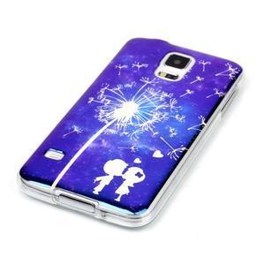 Blu-ray gelový obal s odlesky na Samsung Galaxy S5 - láska - 2