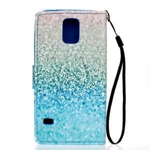 Knížkové PU kožené pouzdro na Samsung Galaxy S5 - glitter - 2