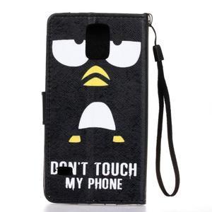 Knížkové PU kožené pouzdro na Samsung Galaxy S5 - nedotýkej se mého telefonu - 2