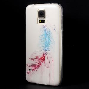 Ultratenký slim gelový obal na Samsung Galaxy S5 - peříčko - 2