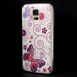 Ultratenký slim gelový obal na Samsung Galaxy S5 - motýlek - 2