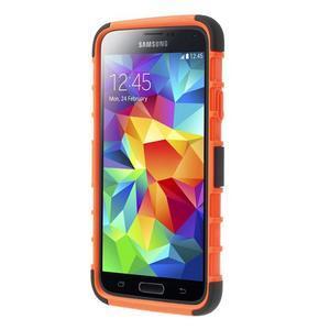 Outdoor odolný kryt na mobil Samsung Galaxy S5 - oranžový - 2